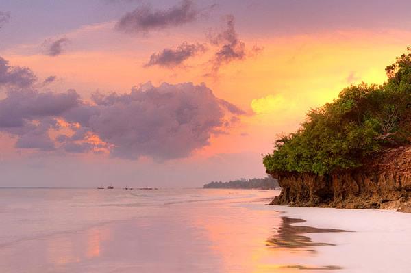 Couché du soleil Diani Beach